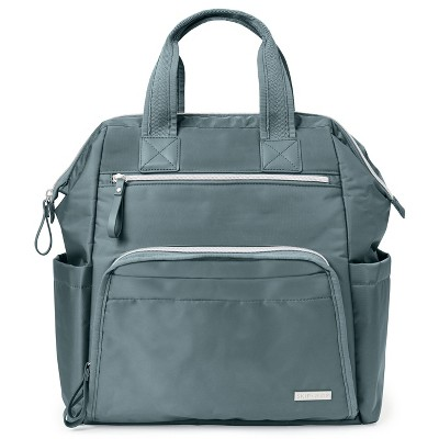 Skip Hop Mainframe Wide Open Diaper Bag Backpack - Silver Sage