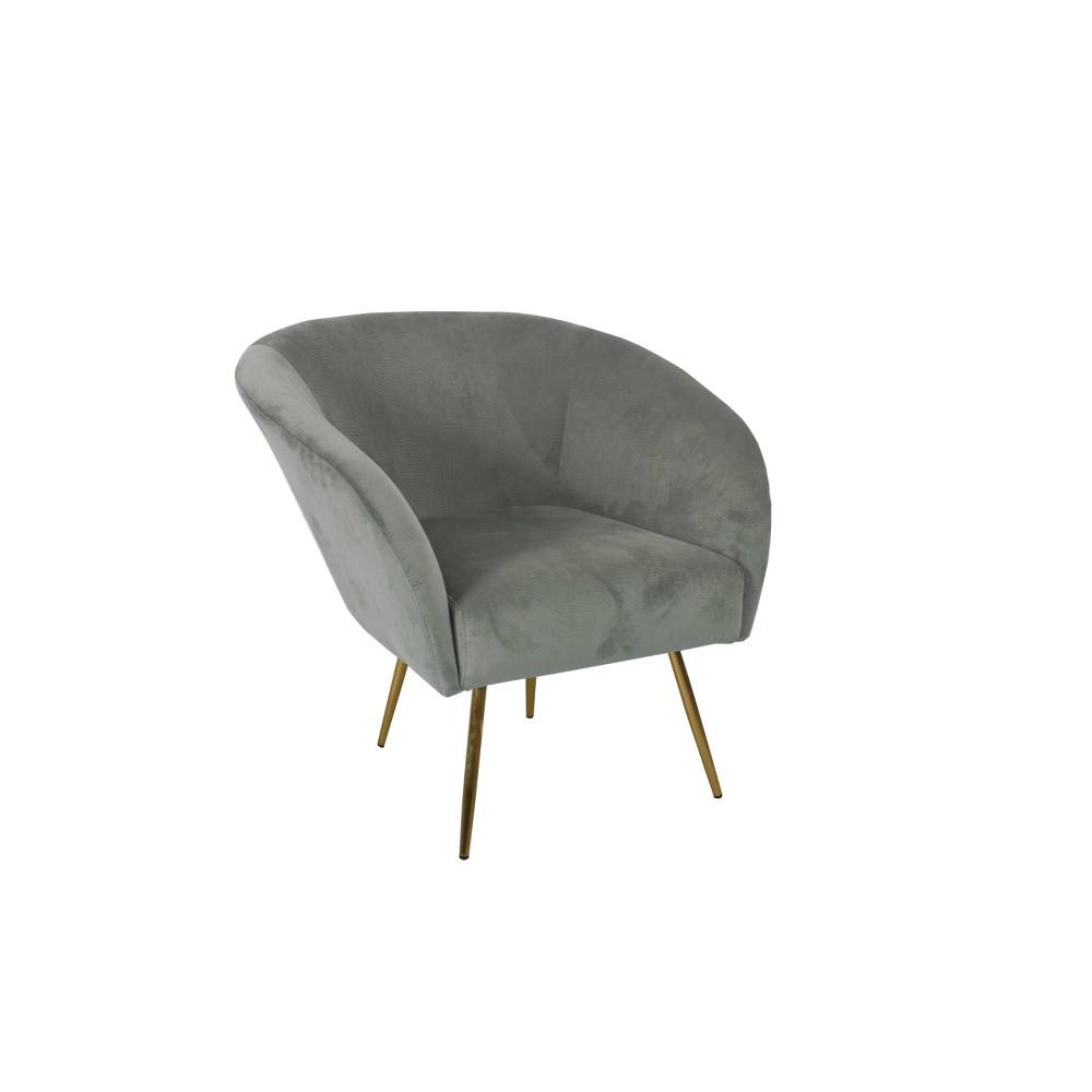 Arra Accent Chair Textured Velvet Light Gray - HomePop