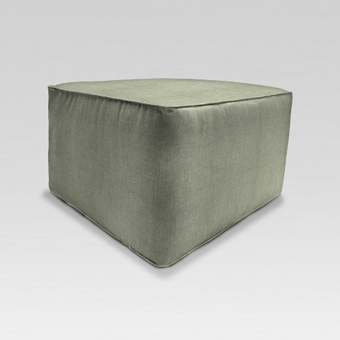 Awesome Outdoor Boxed Square Pouf Ottoman Green Jordan Manufacturing Lamtechconsult Wood Chair Design Ideas Lamtechconsultcom