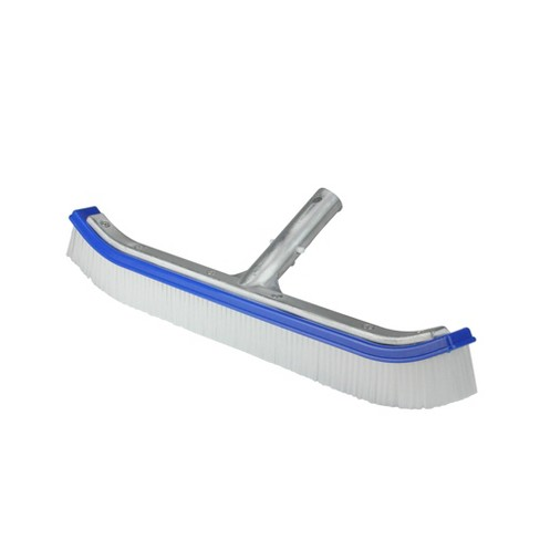 "Pool Central Standard Curve Nylon Bristle Wall Brush with Aluminum Support 18"" - Blue - image 1 of 3"
