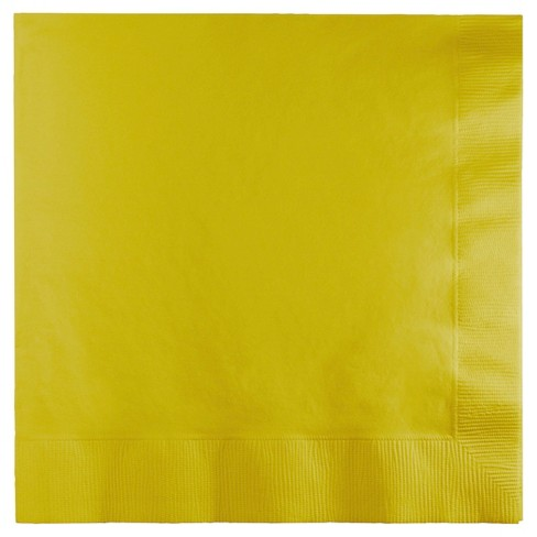 2ply 60ct Disposable Lunch Solid Napkin Gold - Spritz™ - image 1 of 1