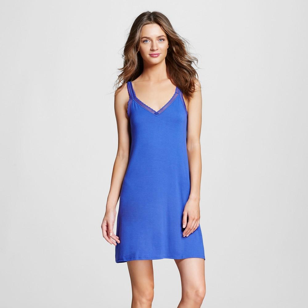 Women's Pajama Fluid Knit Nightgown Blue XS, Blue Diamond