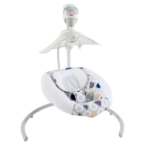 Fisher-Price Starlight Revolve Swing with Smart Connect - Joyful Drops - image 1 of 8