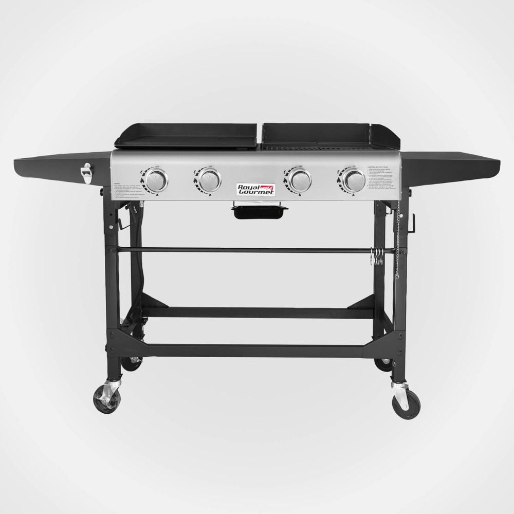 Image of 4 Burner Folding Gas Grill Griddle GD401 Black - Royal Gourmet