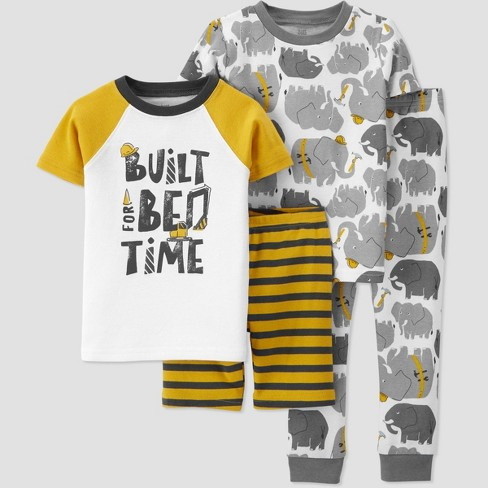 Toddler Boys' 4pc Construction Snug Fit Pajama Set - Just One You® made by carter's - image 1 of 3