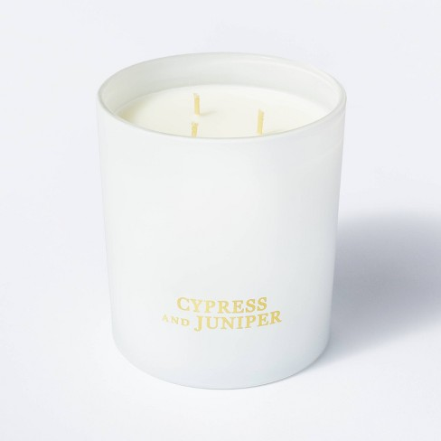 20oz Linen Gift Box 3-Wick Candle - Threshold™ designed with Studio McGee - image 1 of 4