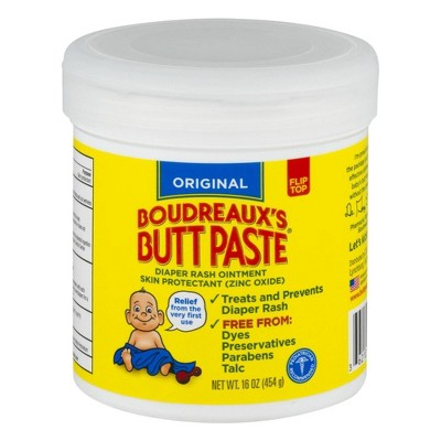 Original Boudreaux's Butt Paste Diaper Rash Ointment Jar - 16oz