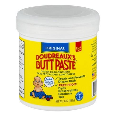 Original Boudreaux's Butt Paste Diaper Rash Ointment Jar - 16oz - image 1 of 3