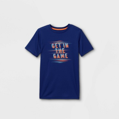Boys' Short Sleeve 'Get in the Game' Graphic T-Shirt - All in Motion™ Blue