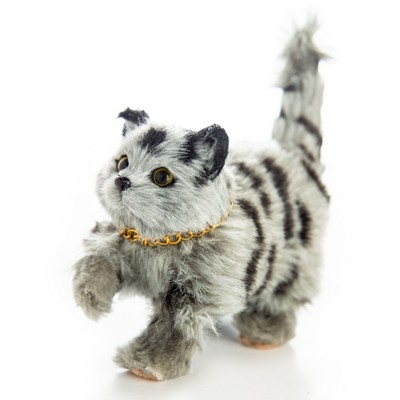 The Queen's Treasures 18 Inch Doll Pet Realistic Grey Striped Kitty Cat
