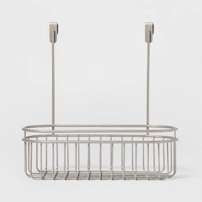 Over the Cabinet Hanging Storage Caddy Brushed Nickel - Threshold™
