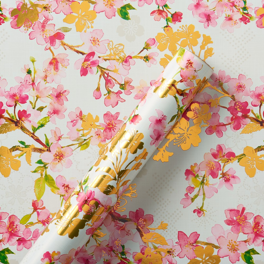 Papyrus Graceful Bloom Roll Wrap, Multi-Colored