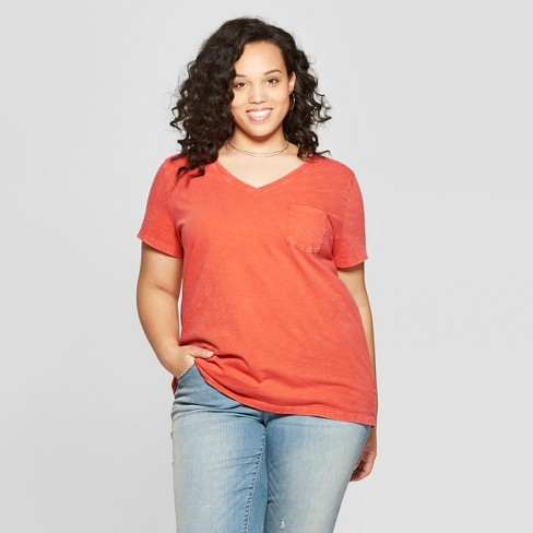 a955cd5556608d Women's Plus Size Monterey Pocket V-Neck Short Sleeve T-Shirt - Universal  Thread™