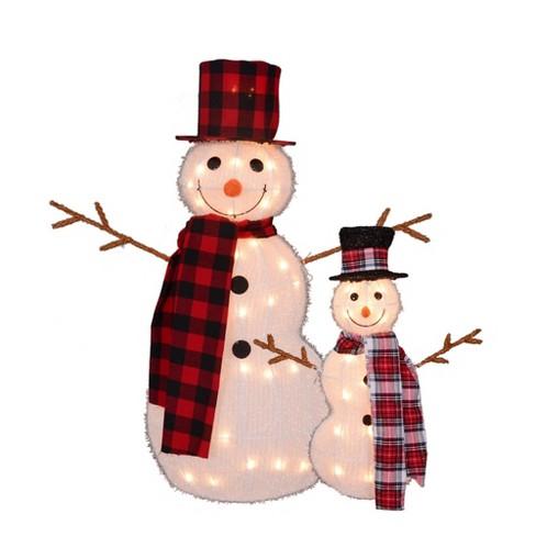 Northlight Set Of 2 Lighted 3 D Snowmen