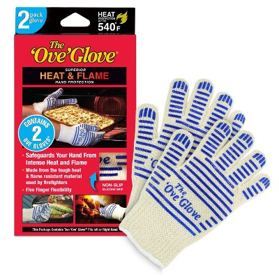 2pk Oven Mitt White/Blue - The 'Ove' Glove