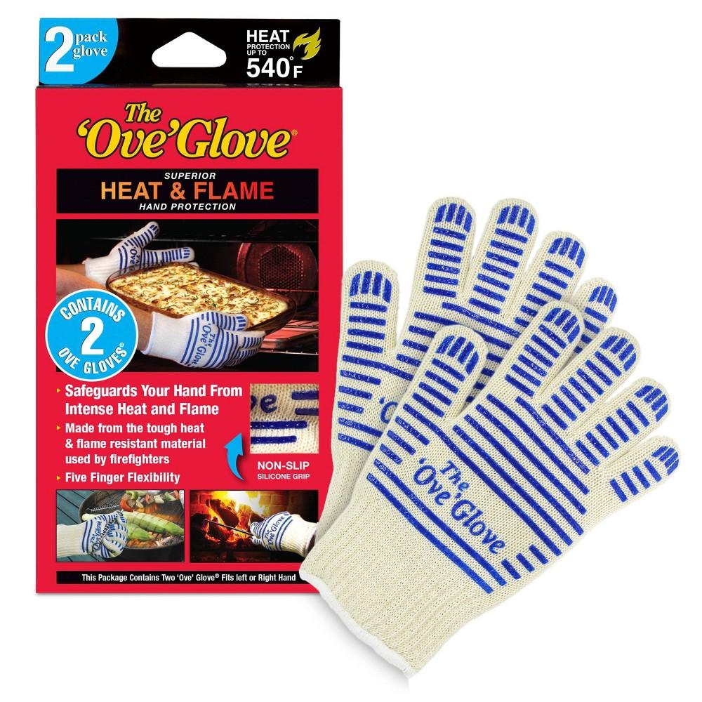 Image of 2pk Oven Mitt White/Blue - The 'Ove' Glove