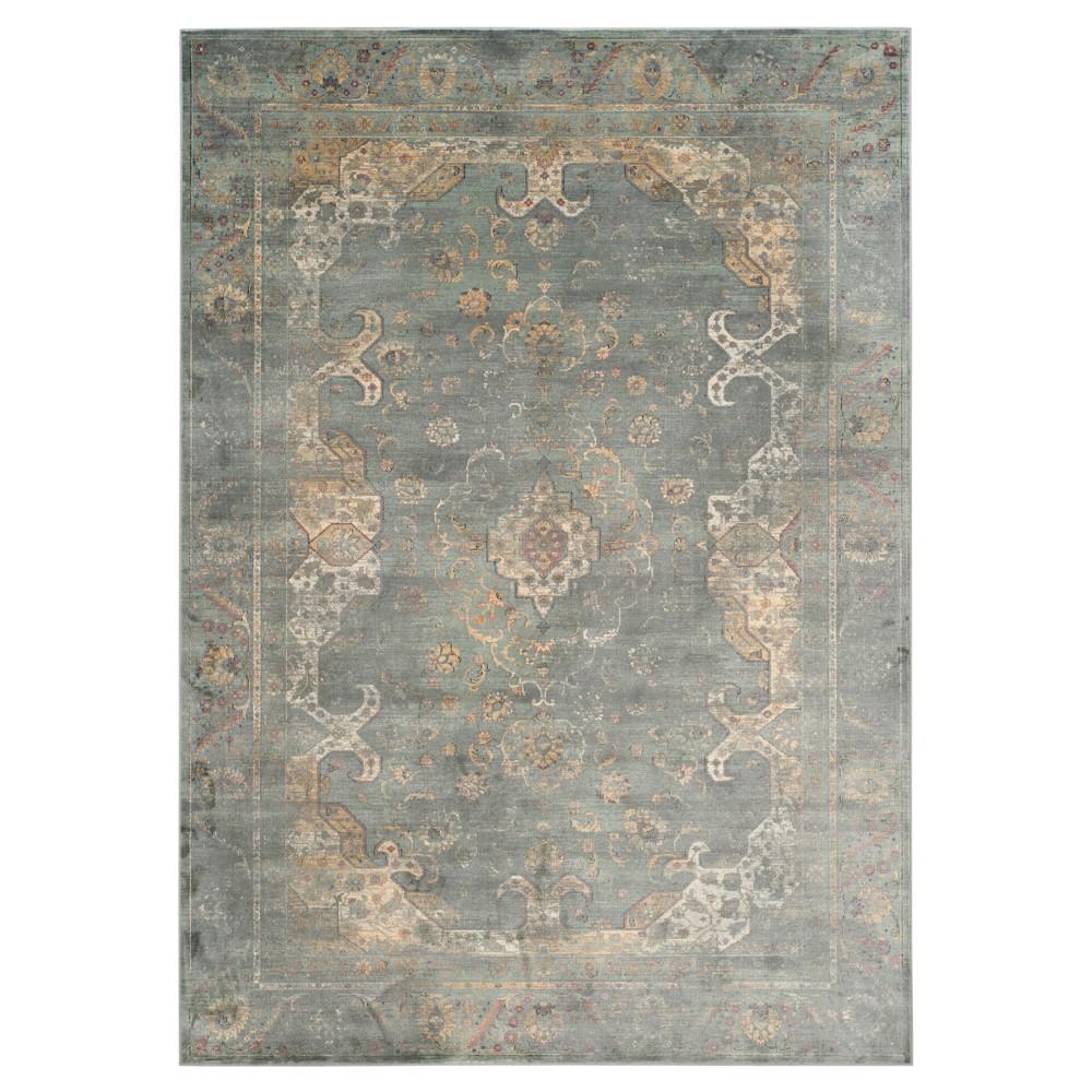 Alessandra Vintage Area Rug - Gray / Multi ( 6' 7