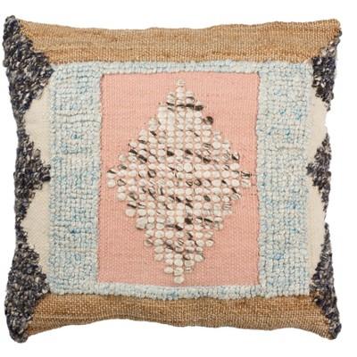 "Arden Pillow - Pink/Multi - 20"" x 20"" - Safavieh"