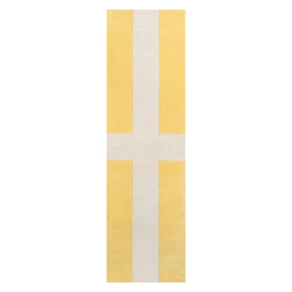 2'3X8' Geometric Tufted Runner Yellow - Novogratz By Momeni