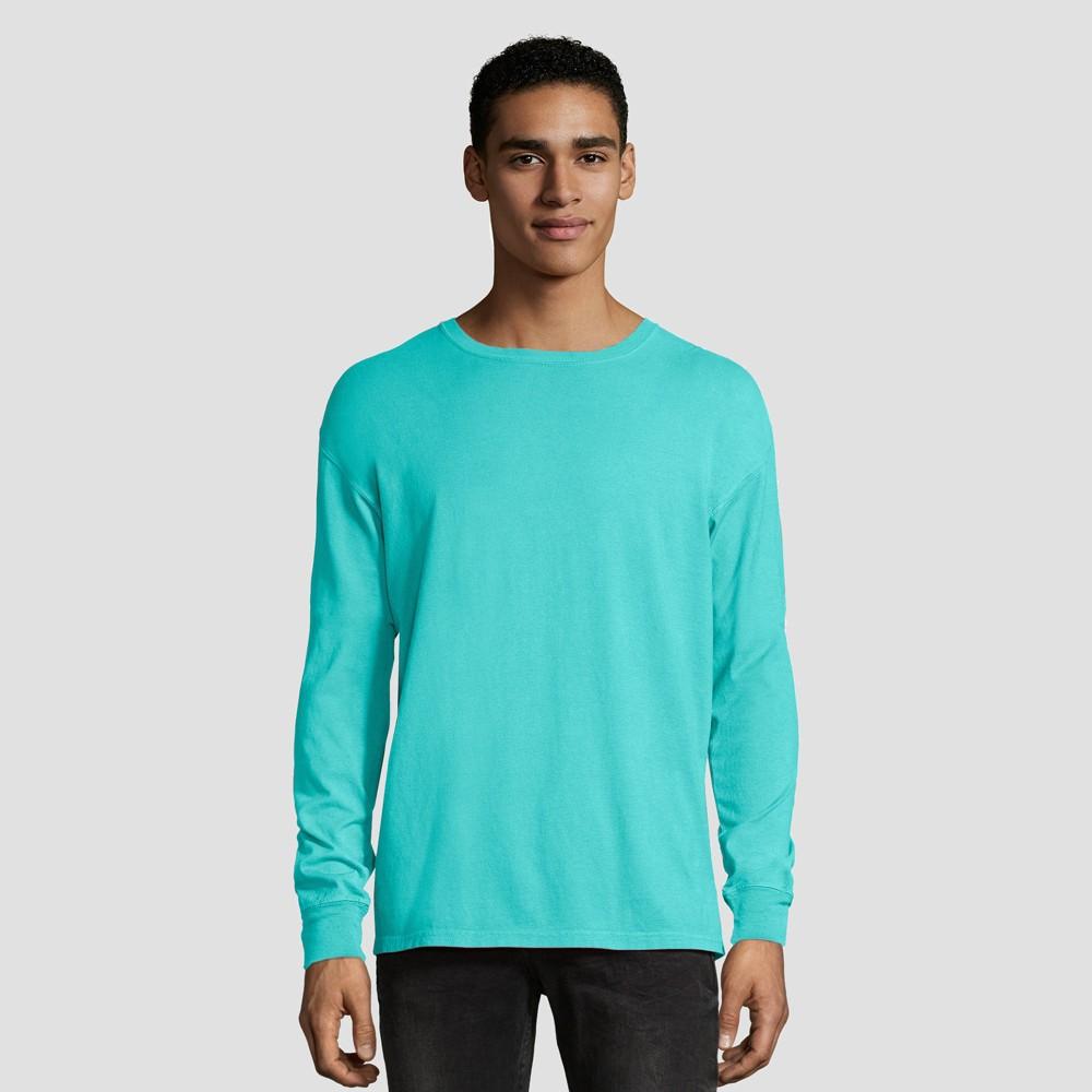 Hanes 1901 Men's Long Sleeve T-Shirt - Mint (Green) S