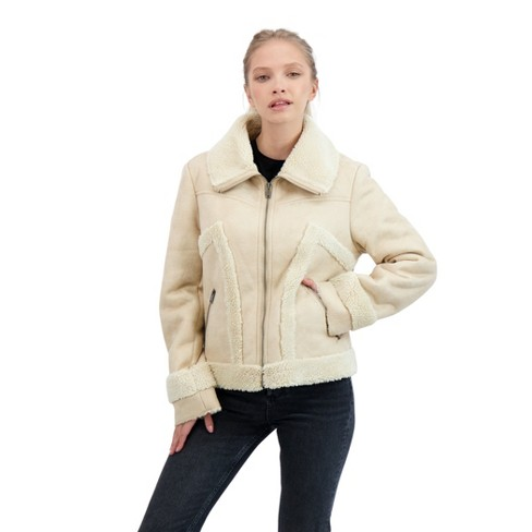 Sebby Collection Women's Zip Front Faux Shearling - image 1 of 2