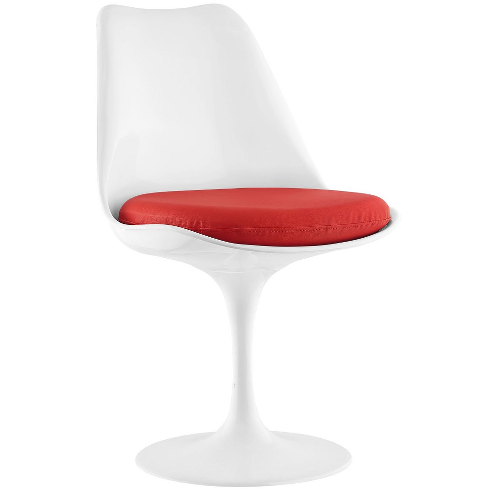 Lippa Dining Vinyl Side Chair Red - Modway