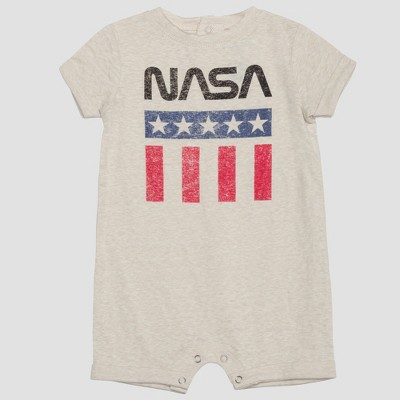 Baby Boys' NASA Short Sleeve Romper - Gray 6-9M