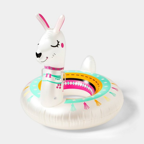 Llama Pool Float Bright White - Sun Squad™ - image 1 of 4
