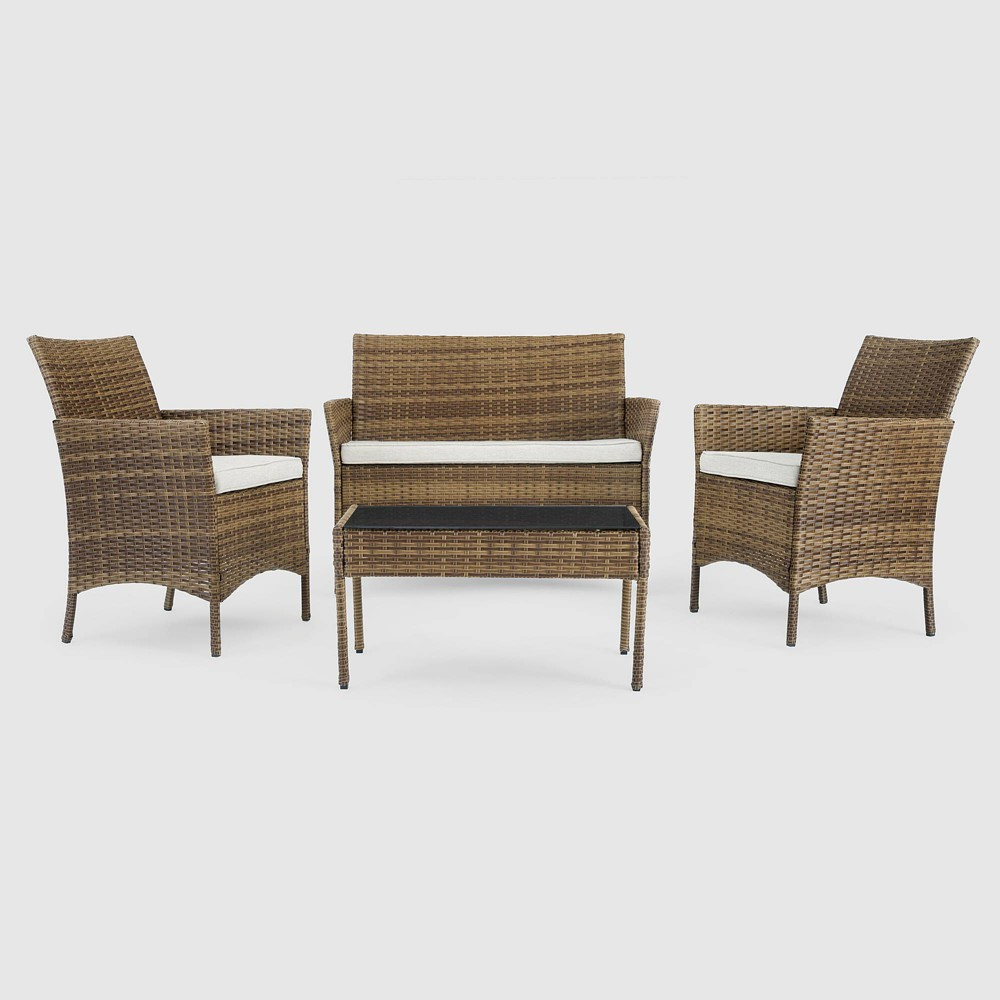Image of Kanab 4pc Patio Seating Set - Brown - Sego Lily