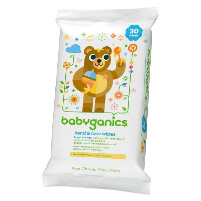 Babyganics Hand and Face wipes 30 ct