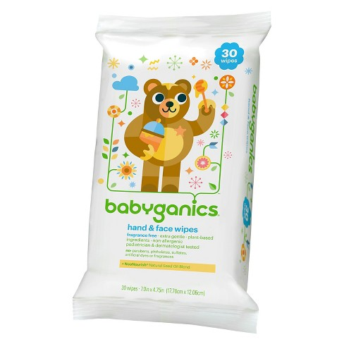 Babyganics Hand and Face wipes 30 ct - image 1 of 3