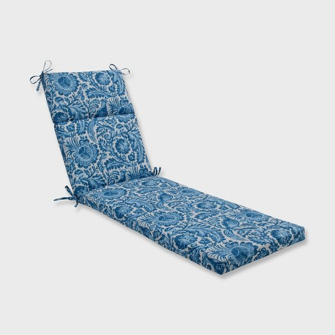 Tucker Resist Outdoor Chaise Lounge Cushion Azure Blue - Pillow Perfect - image 1 of 2