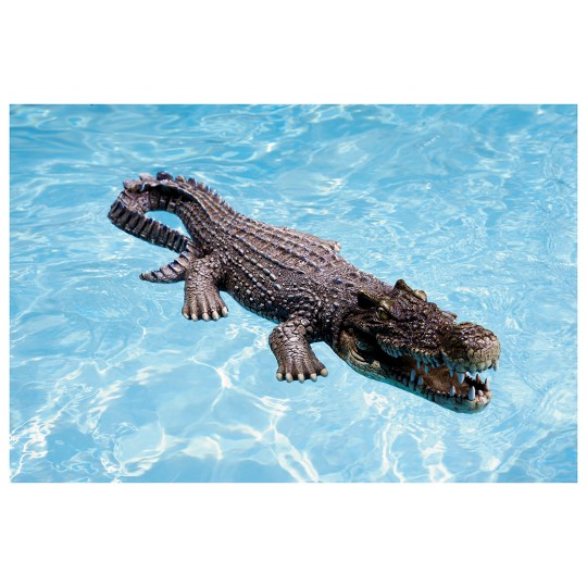 "Poolmaster Crocodile Body Float - 30"", Adult Unisex, Gray image number null"
