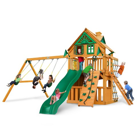 Gorilla Playsets Chateau Clubhouse Treehouse Swing Set Target