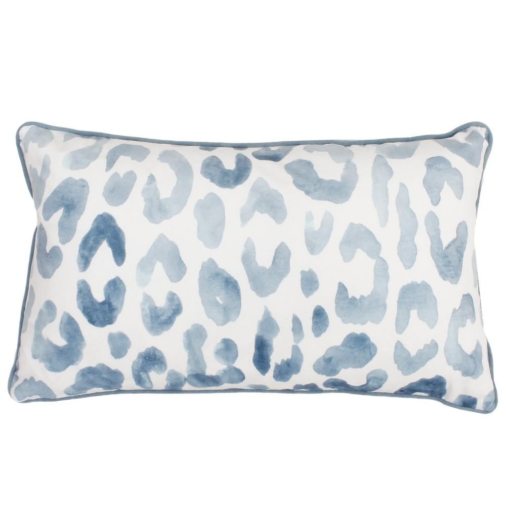Miron Cheeta Print Oversize Lumbar Throw Pillow Blue - Decor Therapy