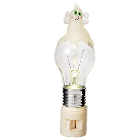 "Ganz  6.25"" Ghost LED Light Bulb Halloween Night Light - Clear - image 1 of 1"