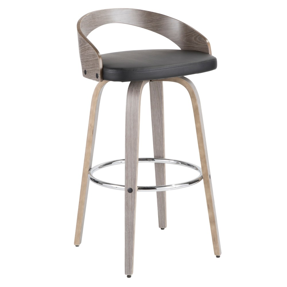 Sensational Grotto Mid Century Modern Barstool Light Grayblack Lumisource Pdpeps Interior Chair Design Pdpepsorg
