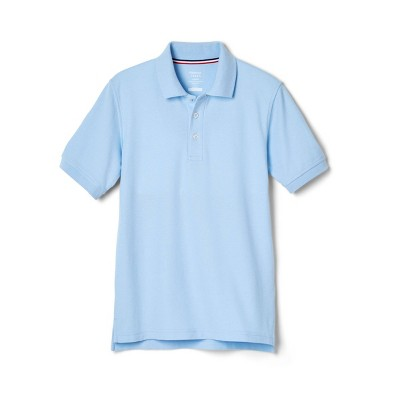French Toast Young Men's Uniform Short Sleeve Pique Polo Shirt - Light Blue