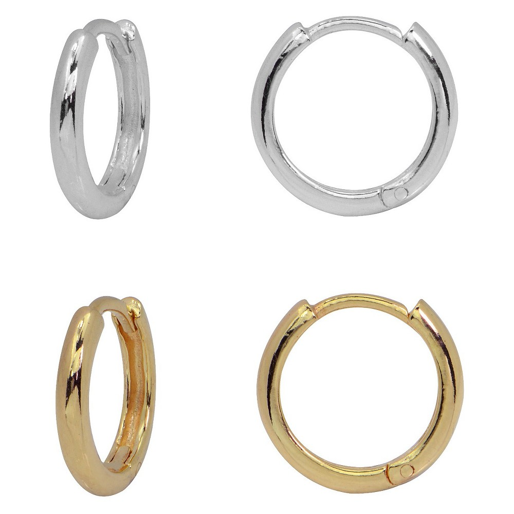 Target Women's Gold Over Silver Two Tone Endless Hoop Ear...