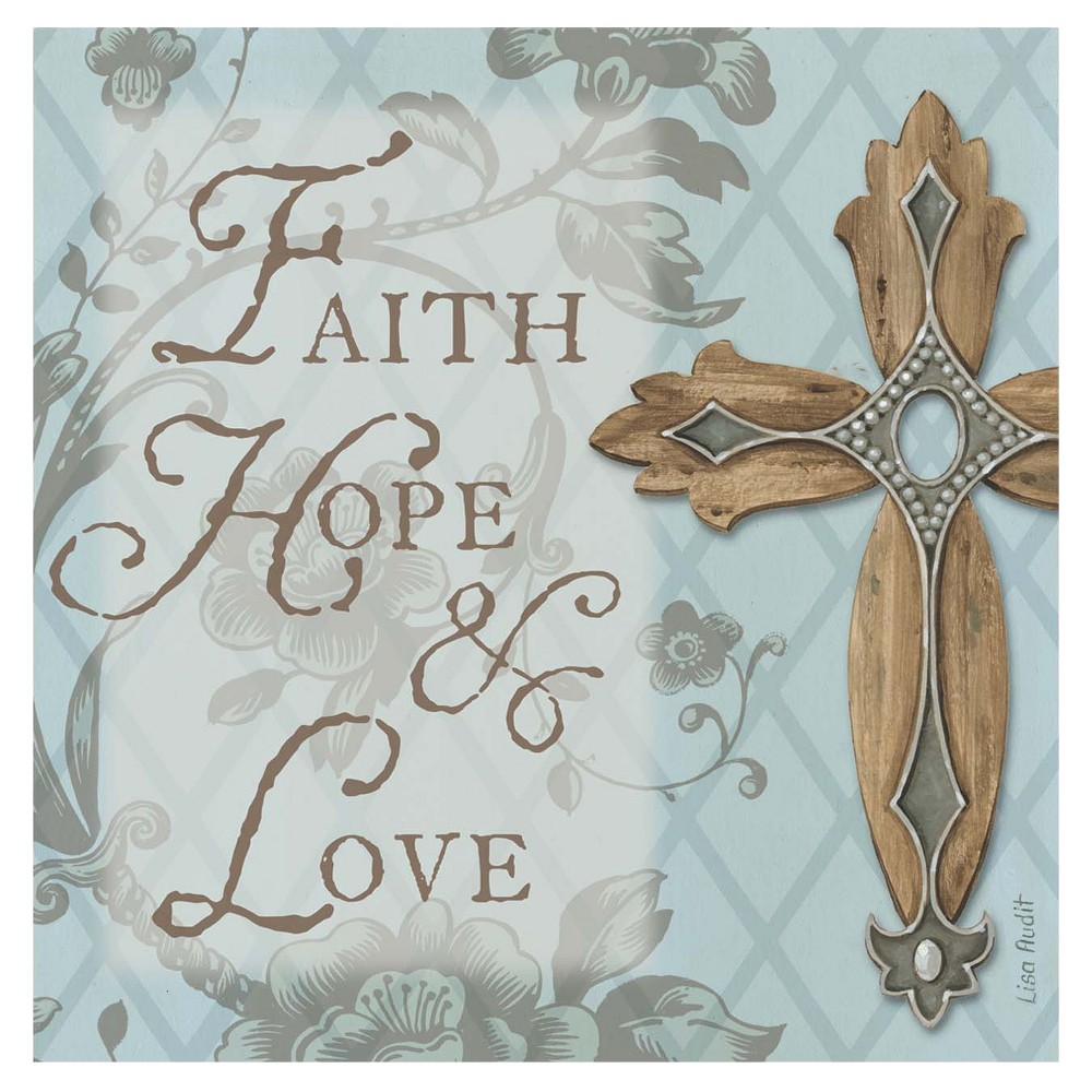 Image of Thirstystone Faith, Hope, Love Cross 4 Piece Occasions Coaster Set