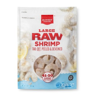 Raw Tail-Off Large Shrimp - 41-50ct/12oz - Market Pantry™