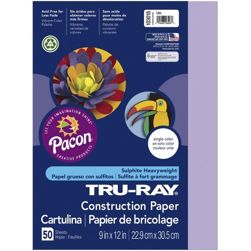 Tru-Ray Sulphite Construction Paper, 18 x 24 Inches, Lilac, 50 Sheets - image 1 of 1