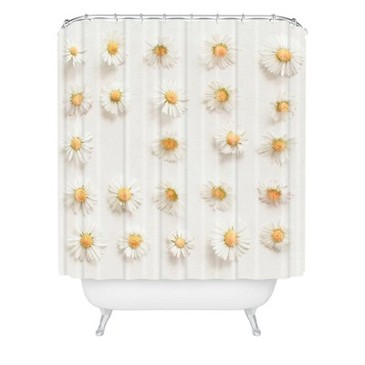 Cassia Beck Daisy Collection Shower Curtain White - Deny Designs