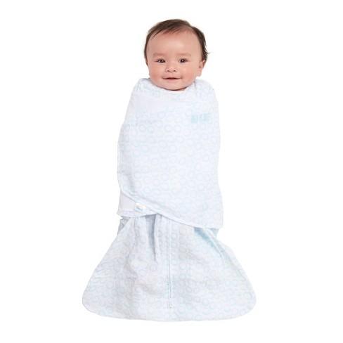 Halo Innovations Sleepsack Pure Cotton Muslin Swaddle Turquoise Nb