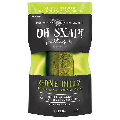 OH SNAP! Gone Dilly Whole Kosher Dill Pickle - 3 fl oz