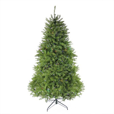 Northlight 7.5' Prelit Artificial Christmas Tree Full Northern Pine - Multicolor LED Lights