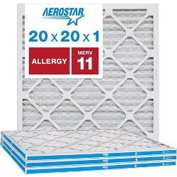 Aerostar AC Furnace Air Filter - Allergy - MERV 11 - Box of 4