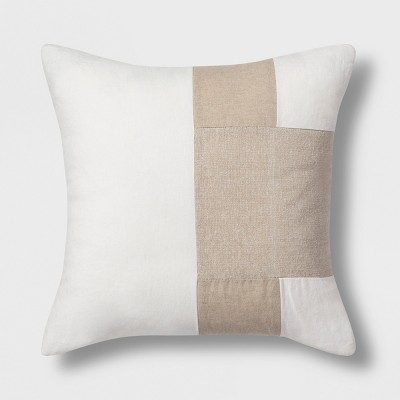Colorblock Square Throw Pillow Neutral - Project 62™