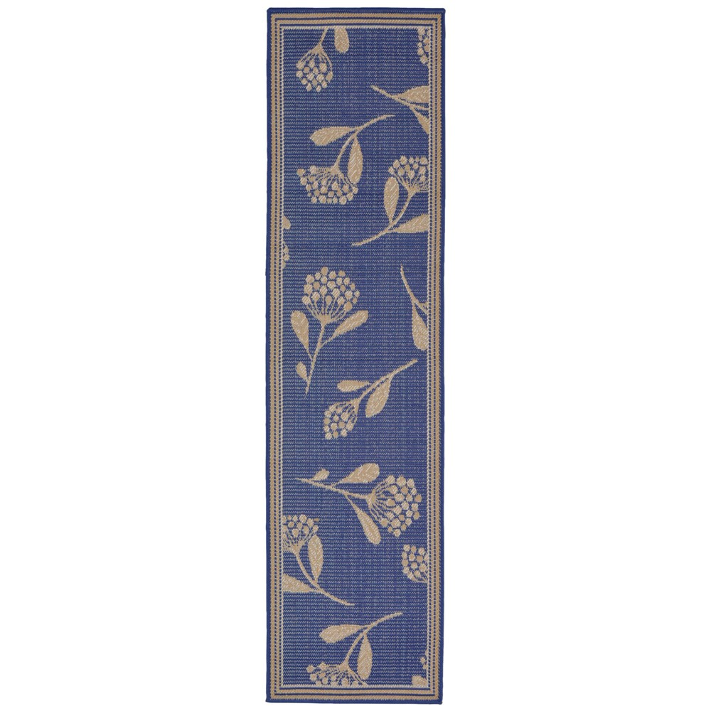 2'X8' Runner Floral Runner Blue - Liora Manne