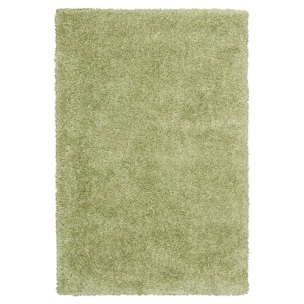 "Image of ""Nourison Solid Escape Shag Area Rug - Green (7'10""""X9'10"""")"""